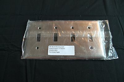 Nos Lot Of (4) Pass & Seymour Stainless S/s Tp26-I 4 Gang Toggle Switch Cover
