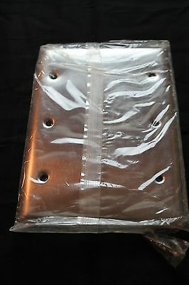 Lot Of (6) Nos Pass & Seymour Legrand Ss33 Stainless S/s 3 Gang Blank Box Cover