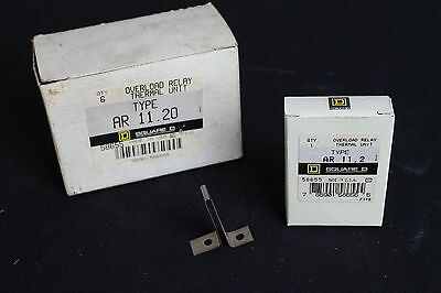Nos Lot Of (6) Square D Ar 11.20 Overload Thermal Relay Unit
