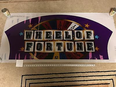 Wheel of Fortune Slot Machine Sign / Poster