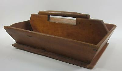 Vintage 19Th C Pennsylvania  Knife Box In Old Surface Primitive