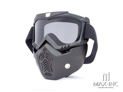 Tactical Paintball Hunting Full Face Mask Anti-fog Safety Goggles Smoked Lens