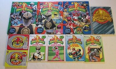 Lot of 10 Vintage Mighty Morphin Power Rangers Books RARE OOP 90s MMPR PB HC