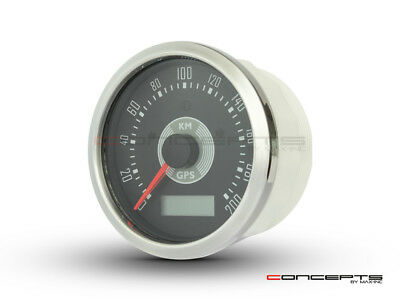 85mm Smiths Replica Motorcycle Cafe Racer Style GPS Speedometer - Chrome