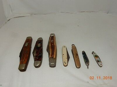 Vintage Lot Of (6) Pocket Knives