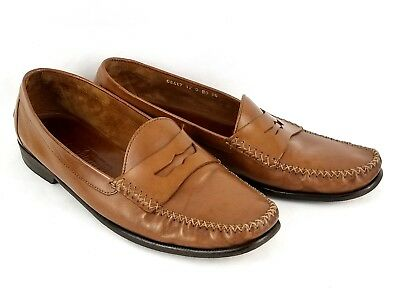Mens Cole Haan Resort 3447 Light Brown Leather Moc Toe Penny Loafers US 12 D
