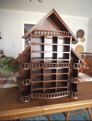 Large Vintage Curio Cabinet House Hand Carved Shabby Chic Stunning!!!
