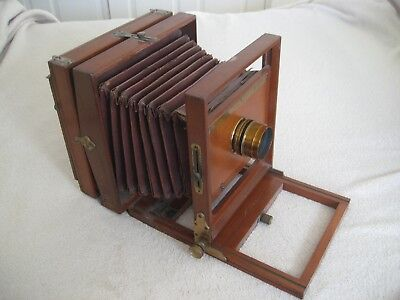 Rare Antique 1896 6x8 Rochester Empire State camera & Taylor Hobson Cooke lens