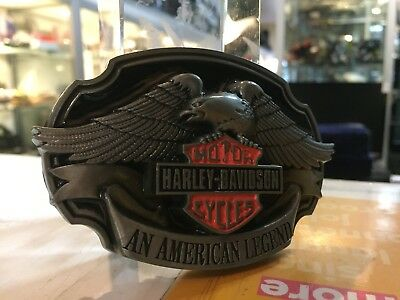 Belt Buckle Harley / Davidson Motor Cycles A Legend / Aussie Stock !!