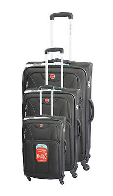 Fly Lite Luggage Trolley Set of 3 with 4 Wheels. Extra Light in 5 colours