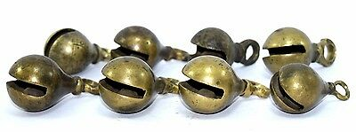 Lot Of 8 Old Nice Decorative Brass Musical Hanging Collection Bells Well. G7-320