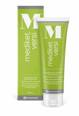 Mediket Versi Cleansing Gel 120ml Tinea Versicolor, seborrhoea skin scalp NEW