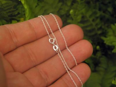 1.0mm Superfine CABLE Chain - 925 SOLID Sterling Silver (40cm - 60cm)