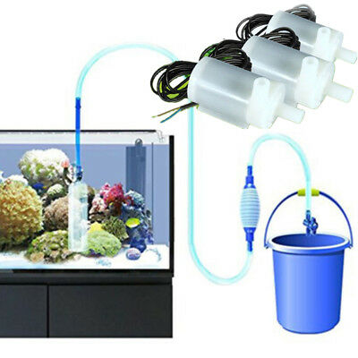 Aquarium MicroSubmersible Changement d'Eau Gravel Cleaner Fish Tank Siphon Pompe