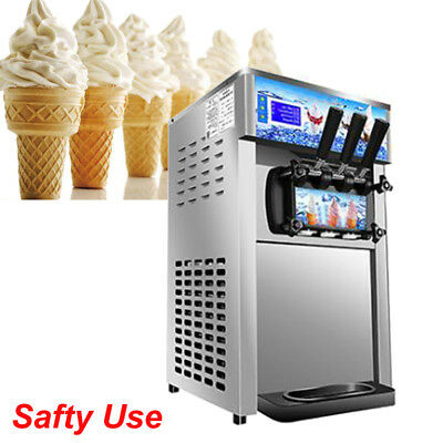 【USA】Commercial Frozen Hard Ice Cream Machine Table Top Freezer 1200W 110V 18L/H