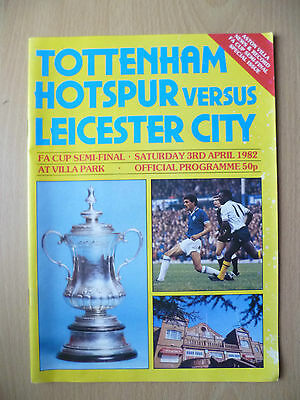 1982 FA CUP SEMI FINAL- TOTTENHAM HOTSPUR v LEICESTER CITY, 3rd April