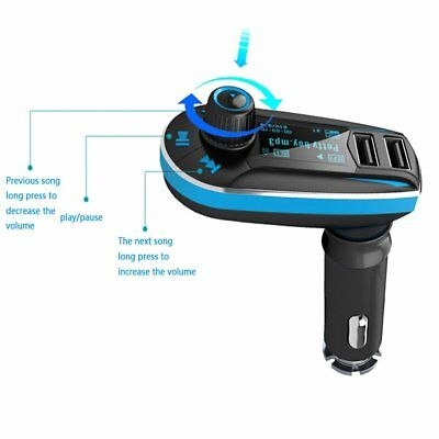 Dual USB FM MP3 Player SD Card LCD Display Auto Car Kit Charger Adapter
