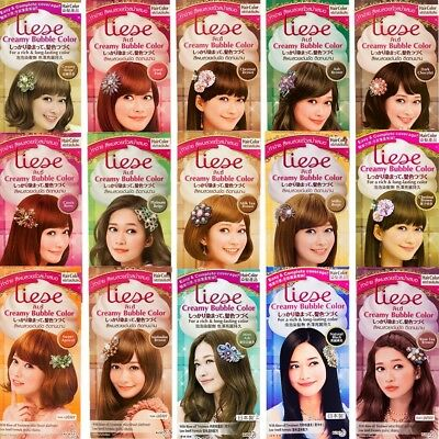 Kao Japan Liese Prettia Soft Bubble Hair Color Dye Kit Foamy Home DIY