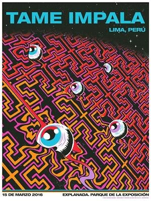 "Tame Impala Psychedelic Rock Music Band Cover 32x24"" Poster fabric Print Art 08"