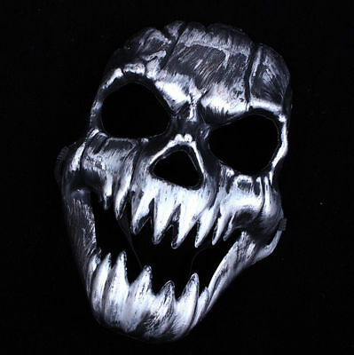 Men Full Face Skull Skeleton Mask Halloween Party Cosplay Fancy Dress Costume