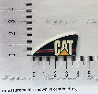 CAT Caterpillar Excavator Logo Lapel Pin Badge