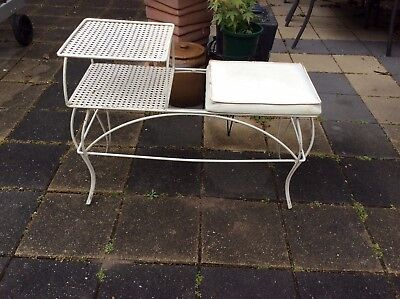 Vintage RETRO 1960's Wrought iron Phone Table /  Hall Table - Melb 3156
