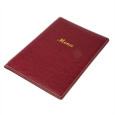 Menu Holder Burgundy A4 Leatherette Style 4 Sided Restaurant Cafe Hotel RE222