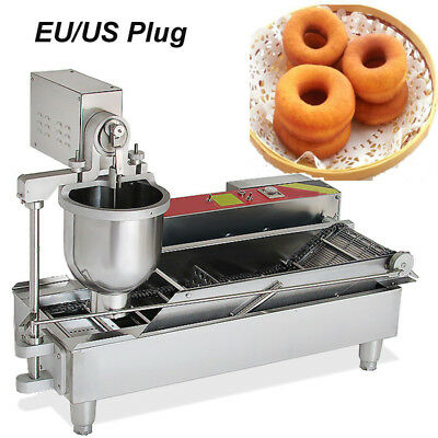【USA】Safty Use 3 SETS FREE MOLD COMMERCIAL AUTOMATIC DONUT MAKER MAKING MACHINE