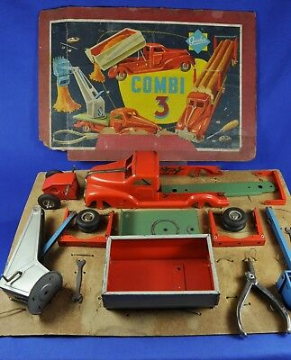 Blech / Tin Toy Gescha - Combi 3 Baukasten LKW / Construction Kit Truck, 1950-60