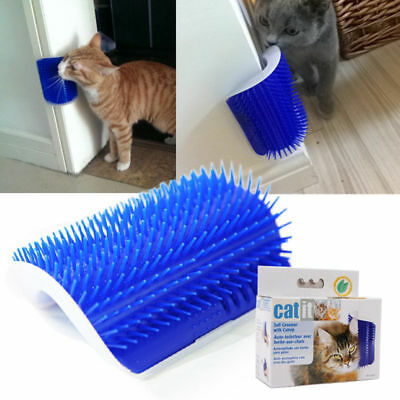 Lovely Pet Cat Self Groomer Wall Corner Massage Comb Cat Kitten Grooming Brush