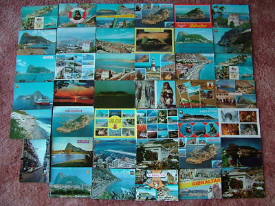 41 Used Postcards of GIBRALTAR. 1960's onwards. Good/Used condition.