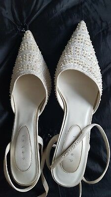 Lovely Debut Wedding Bridal beads Shoes Size 8