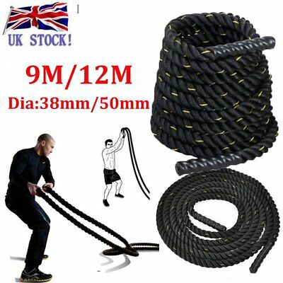Uk 38Mm 50Mm Training Battling Battle Power Rope Sport Exercise Fitness Bootcamp