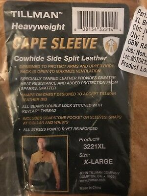 Tillman Welding Jacket Heavyweight Cape Sleeve Cowhide Leather X-Large