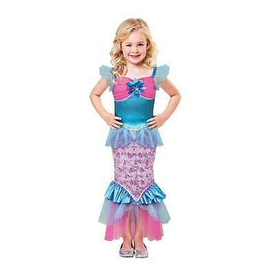 Childrens Girls Little Mermaid Sparkle of the Sea Fancy Dress Costume Fish Tail