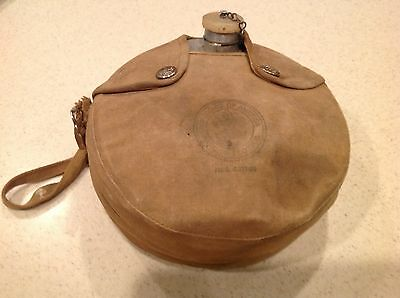 Vintage Boy Scouts of America Canteen Aluminum with Canvas Cover and Strap