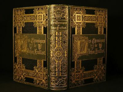 1881 EXQUISITE Froissart Chronicles Chroniques Medieval Hundred Years' War Chiva
