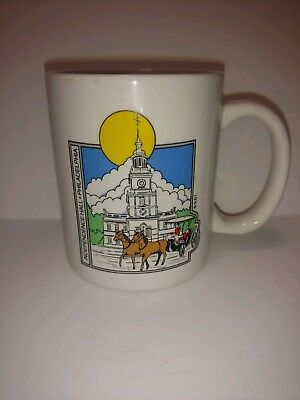 Collectible coffee mug travel souvenir Independence Hall Philadelphia Pennsylvan