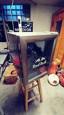 Red Bull Commercial Stainless Counter Top Mini Fridge Refrigerator AS-IS used