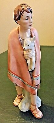 "Goebel Nativity TMK-6 Shepherd Holding Lamb Rare 8"" Vintage Germany Sign Number"