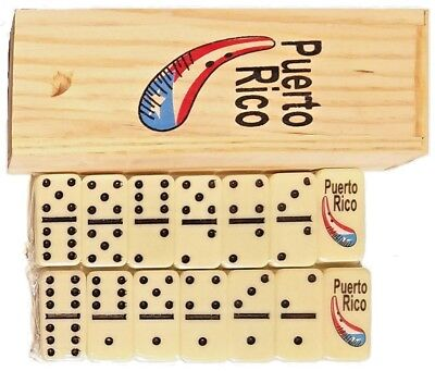 Puerto Rico GUIRO Double Six Dominos Dominoes Boricua Rican * TRAVEL SIZE *