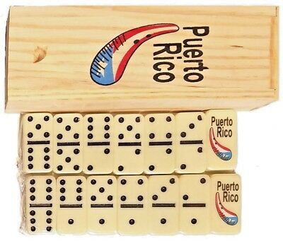 Lot of 6 Puerto Rico GUIRO Double Six Dominos Dominoes Rican * TRAVEL SIZE *