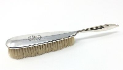 Vintage Deco LA PIERRE Sterling Silver Vanity Dresser CLOTHES BRUSH hair Lint