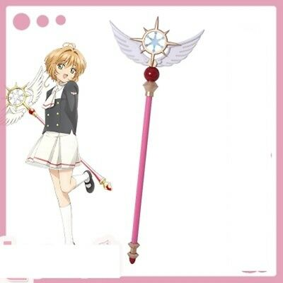 New Anime Card Captor Sakura Kinomoto Star Cane CLEAR CARD Cosplay Magic Wand