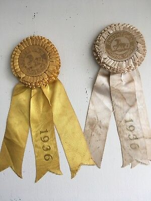 Smithtown NY 1936 Horse Show ribbons lot 2 North Shore Long Island