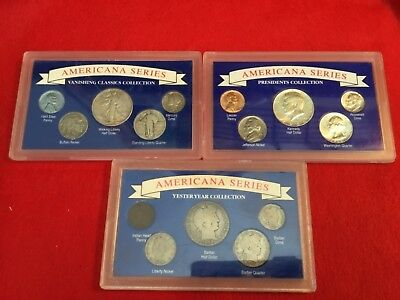 3- AMERICANA SERIES COIN COLLECTION SETS Yesteryear, Vanishing Classics, Pres