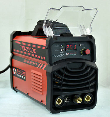 TIG-200DC 200 Amp TIG Torch Stick ARC DC Welder 120/240V Dual Voltage Welding