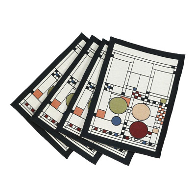 Frank Lloyd Wright Coonley Playhouse Tapestry Placemat - Set of 4