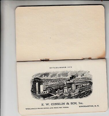 Very Rare Vintage Conklin Seed Catalog/Binghamton NY/Grass Poultry Foods FARM