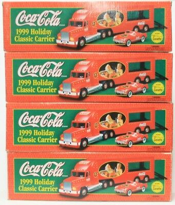Vintage Lot Of 1999 4 COCA-COLA  Holiday Classic Carrier with '53 Corvette MIB